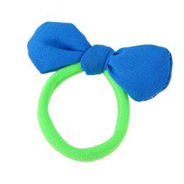 Wholesale Hair Plaited Elastic - Fashion Plaits Hair Accessories Black Elastic Rope Hair Bands Candy Color Yarn Bowknot Headwear Accessories Women