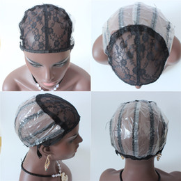 Wholesale Weaving Wig Cap Net - Wig caps for making wigs only stretch lace weaving cap adjustable straps back wig cap for weaving hair net