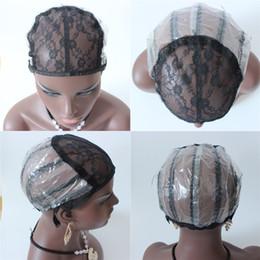 Perücke Kappen für die Herstellung von Perücken nur Stretch-Spitze weben Kappe verstellbaren Trägern zurück Perücke Kappe zum Weben Haarnetz von Fabrikanten