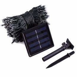 Wholesale Solar Powered Net Lights - New Arrive lederTEK Solar Powered Fairy String Lights 33ft 10m 100 LED 8 Modes Christmas Lights Ambiance Lighting For Outdoor
