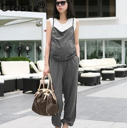 Wholesale Chinese Jumpsuits - Wholesale- 2017 New Arrivals Regular Casual Fashion V-Neck Sexy Summer Rompers Womens Jumpsuit for Women Black Gray Chinese clothing WK143