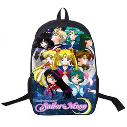 Wholesale Crystal Cartoon - Wholesale- Anime Sailor Moon Backpack SailorMoon Crystal Backpack For Teenagers Girls Children School Bags Women School Backpacks Kids Bag