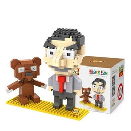 Wholesale Mini Model Building - LOZ Mr Bean DIY Assemble Mini Diamond Building Blocks Model Classical Action Figure Toys Gift Children Toys For Children
