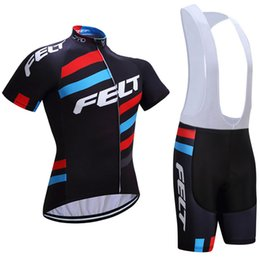 Wholesale Bike Bicycle Wear - Free shipping 2017 FELT cycling jersey 3D gel pad bike shorts Ropa Ciclismo quick dry team bicycling wear mens summer bicycle Maillot Suit