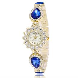 Wholesale Gold Encrusted - DHL Free shipping fashion Europe new Ms han edition fashion bracelets table Ms diamond-encrusted bracelet watch lady watch lady bracelet wat