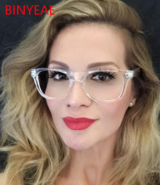 Wholesale Crystal Eye Lens - Wholesale- Transparent Crystal Clear Frame Lens eye glasses spectacle frame clear glasses lens Women's eyeglasses square glasses frame