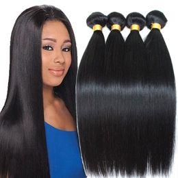 Wholesale Hair Weave Supplies - Factory supply cheap Mink Peruvian Virgin Hair Straight 4 Bundles Peruvian Straight 7A Unprocessed Human Hair Peruvian Hair Weave Bundles