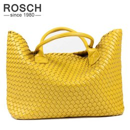 Wholesale Office Leather Bags For Women - Wholesale-2016 NEW Fashion Famous Brand PU Leather Woven Shoulder Bags For Office Hand Bag Women High Quality Designer Purses And Handbags