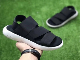 Wholesale Winter Slippers For Men - New Arrival Y-3 sandals for Women and Men 2017 Summer Beach Shoes Black White Purple Flats Slippers Men Size 36-44