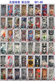 Wholesale Japanese Wear - New 500pcs tattoo sleeves 70 styles arm wearmers cycling protective Cool Anti UV Arm Stockings Tattoo Wears Fishing Driving Sleeves