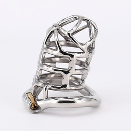 Wholesale Steel Chastity Belt Man - Extreme Confinement Chastity Cage Stainless Steel 83mm Legth Chastity Device Sex Toys Lock Ring For Men