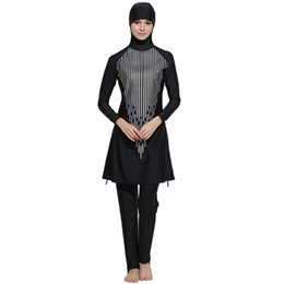 full body swimsuit women Coupons - Wholesale Islamic Swimwear Women Modest Full Cover Muslim Islamic Hijab Swimsuit Swimwear Burkinis For Muslim Girls Women Free Shipping