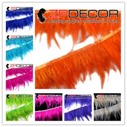 Wholesale Rooster Chicken Costume - ZPDECOR 2016 New Arrival 5-6 inch Premium Quality Dyed Mix Colored Rooster Chicken Saddle Feathers Trim for Carnival Costumes