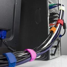 Wholesale Milk Power - Wholesale- 8pcs pack Nylon Cable Ties Power Wire Strap Management Marker Straps