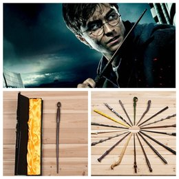 Wholesale Toy Wholesalers Harry Potter - harry potter Magical Wand dumbledore Hogwarts wand cosplay wands Hermione Voldemort Magic Wand In Gift Box 36cm 18 design KKA551