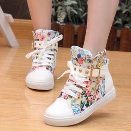 Chaussures de toile 2019 Chaussures pour femmes Mode Fermeture à glissière compensée Talons hauts de couleur unie Chaussures blanches Bottes de femme ? partir de fabricateur