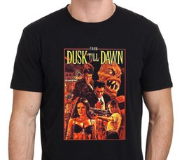 Wholesale Colours Shirts For Men - Colour Funny Printed From The Dusk Till Dawn Vintage Horror Vampire Movie Short Cotton Crew Neck Shirts For Men