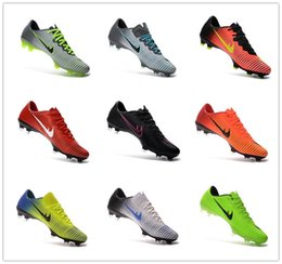 Wholesale Cheap 11 Boots - 2016 New Mercurial Vapor XI FG Football Boots 11 Generation Soccer Shoes Men Cheap High Quality Football Cleats Soccer Shoes