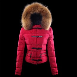 Wholesale Womens Short Red Parka - 2017 New Italy Brand Womens Down Coats, Women's Mon*ler Thick Warm White Duck Down Outerwear Jackets Parkas Pink Red Black Size 0-5
