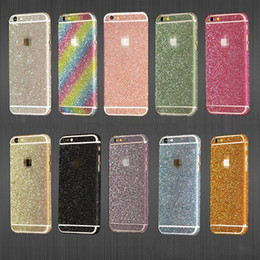 Pellicola dell'autoadesivo del telefono delle cellule online-Glitter Sticker per Smart Phone Cell Phone Lusso Bling Full Body Decal Glitter Film Sticker Cover Case