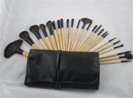 Wholesale Brand Make Up Case - New Professional 24 PCS Makeup Brush Set Make-up Toiletry Kit Wool Brand Make Up Brush Set Case Free DHL