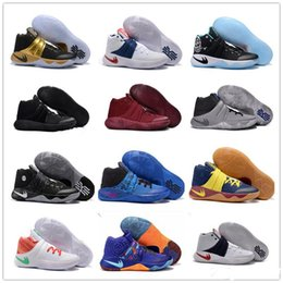 Wholesale Black Samurai - 2017 cheap Hot Sale Kyrie Irving 2 Men's Basketball Shoes Champion Edition Grey Wolf Samurai Star Sports Training Sneakers 40-46