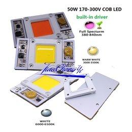 Wholesale High Power Led Driver Chip - Free shipping 50W 170-265VAC 220VAC High Power led chip built-in driver Warm white white LED, Full Spectrum LED