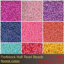 Wholesale Flat Backed Pearls - Free shipping Wholesale price China ABS Flat Back Half Pearl Beads 2mm Normal Color with top quality
