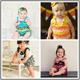 Wholesale Newborn Clothes For Girls - Baby Rompers Summer Toddler Lace Jumpsuit for Girls Fashion Kids Clothing Newborn Clothes INS Infant Princess Bodysuit