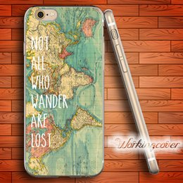 Wholesale Iphone 5c Map - Coque Map Quotes Soft Clear TPU Case for iPhone 6 6S 7 Plus 5S SE 5 5C 4S 4 Case Silicone Cover.
