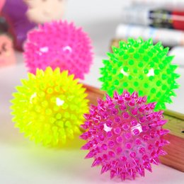 Wholesale Spiky Balls - Dog Toy Balls Interaction Funny Toys With Sound Making Bounce Back And Flashing Function Multi Colors Spiky Ball Perfect For Pets Training