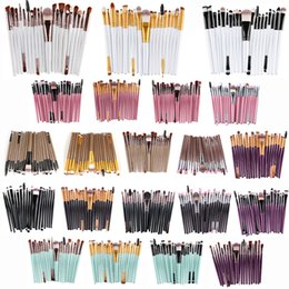 Wholesale Makeup Kit Products - Professional 20 Pcs set Makeup Brushes Set 20 Types Powder Foundation Eyeshadow Eyeliner Cosmetic Brushes 21 Colors 2017 Hot Product 1 pc