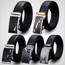 Wholesale Automatic Leather Strap Belt - 80 designs belt MEN'S Genuine Leather belts Waist Strap Belts Automatic Buckle Black leisure business leather belts YYA163