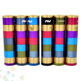 full copper mechanical mod Promo Codes - Vaporizer AV Manhattan Ringer Mod Avid Lyfe 24mm Full Mechanical Adjustable Copper Bottom-fire Button 5 Ring E Cig DHL Free