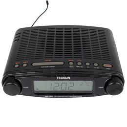 Wholesale Ats Radio - Wholesale-Tecsun Radio MP-300 FM Stereo DSP Radio USB MP3 Player Desktop Clock ATS Alarm 220V AC Radio Recorder Y4137A