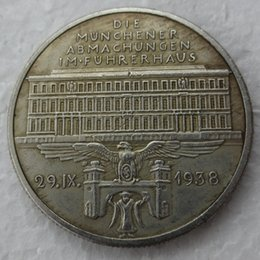 Wholesale Gifts Germany - H(21)Germany Commemorative Coins 1938 Copy Coins silver plated Brass Craft Ornaments