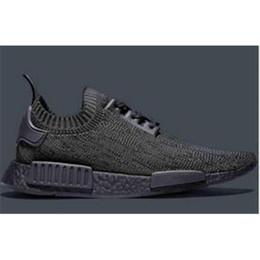 Wholesale Dmx 36 - 2017 Hypervenom Phinish BEST NMD R1 Primeknit Pitch Black Shoe NMD Boost Primeknit Black NMD Shoes size 36-45 kids running shoes
