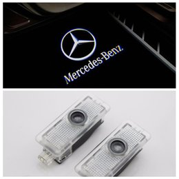 Wholesale Mercedes Welcome - 2pcs lot Car Door Welcome Lights Laser Projector Logo Courtesy Ghost Shadow Light for Mercedes Benz CLS W218 X218 CLA Class CLS400 CLS320