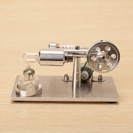 Wholesale Upgrade Engine - Wholesale- Hot New Upgrade Air Stirling Engine Model Generator Aluminum Alloy Model Educational Science Toy Gift For Kid Children