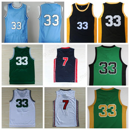 Wholesale High Quality Larry Bird Jersey USA Dream Team Indiana State Sycamores Basketball Larry Bird College Jerseys Sports with player name