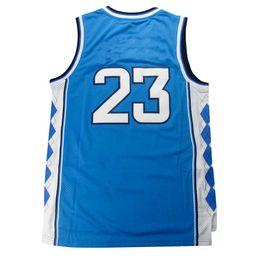 Wholesale Youth Cheap Sports Jerseys - Cheap sports shirts Men's #23 North Carolina Jerseys Blue White Youth Basketball Jersey Men Sports wear embroidered Logos