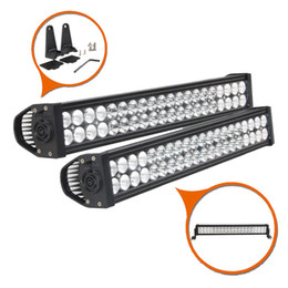 "Wholesale Led Driving Lights 4wd - 24"" inch 120W Waterproof IP67 LED Work Light Bar Combo Beam Driving Light for Offroad 4WD Ford SUV Boat Truck Tractor Trailer ATV UTV 10-30V"