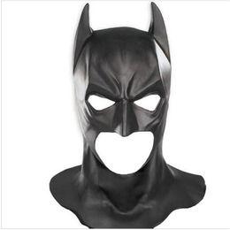 Wholesale Batman Full Mask - Top Grade 100% Latex Batman Masks Adult Halloween Mask Full Face Caretas Movie Bruce Wayne Cosplay Toy Props batman mask Fancy Dress toy