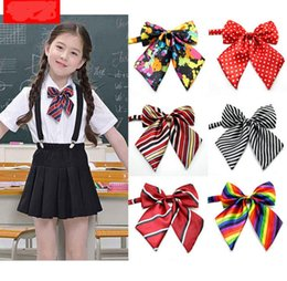 Wholesale Ceremony Accessories - Kids adjustable bow tie school uniform accessory props boys girls opening ceremony school opening day performance bowknot ties