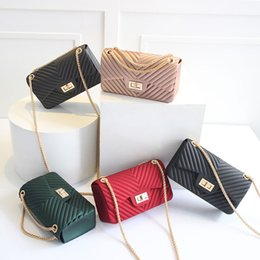 Wholesale Kids Jelly Purses - Two Size Stylish Girl Jelly Shoulder Bag Kids Small fashion Purse Baby New brands Mini Messenger Bags kids Hot Wallets gift for Child CK146