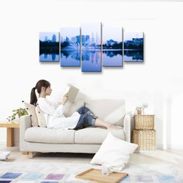 Wholesale Print Frame Digital Photos - oil Painting Sea view Hd print canvas painting Photo print painting Prints Wall Pictures for Living Room Picture PL5-153