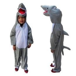 Ragazzi Ragazze Cartoon Animal Shark Costume Cosplay Per Bambini Bambini Cosplay Tute Halloween Fancy Dress Decor da costume di halloween di squalo fornitori