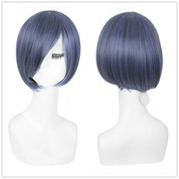 Wholesale Sexy Gray Wigs - WOMENS SEXY SHORT BOB WIG GRAY BLUE SYNTHETIC HAIR COSPLAY PARTY WIGS Synthetic Hair Wigs