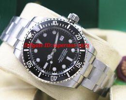 Wholesale Men Black Ceramic Bracelets - Top Quality Luxury Wristwatch CERAMIC Stainless Steel Bracelet Black Dial #116610LN 40MM Men Automatic Mechanical Watches New Arrival