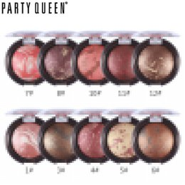 Wholesale Baked Powder Makeup - Wholesale-Party Queen Baked Shimmer Bronzer Blush Palette Mineral Blush Powder Makeup Multipurpose Blush Cheek Color Bronzer Cosmetic